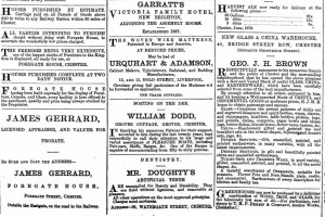 William Dodd advert in the Chester Chronicle from 1872