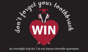 Win an overnight stay for 2 in our luxury riverside apartment